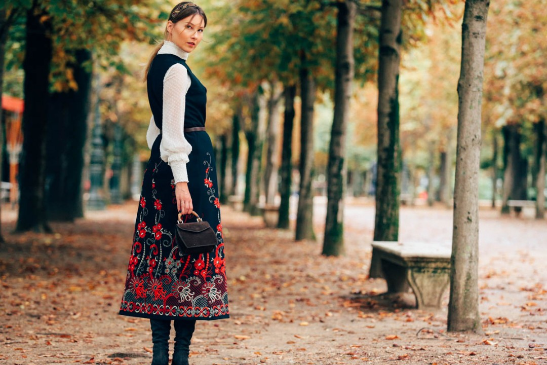 vintage dress tuilleries paris