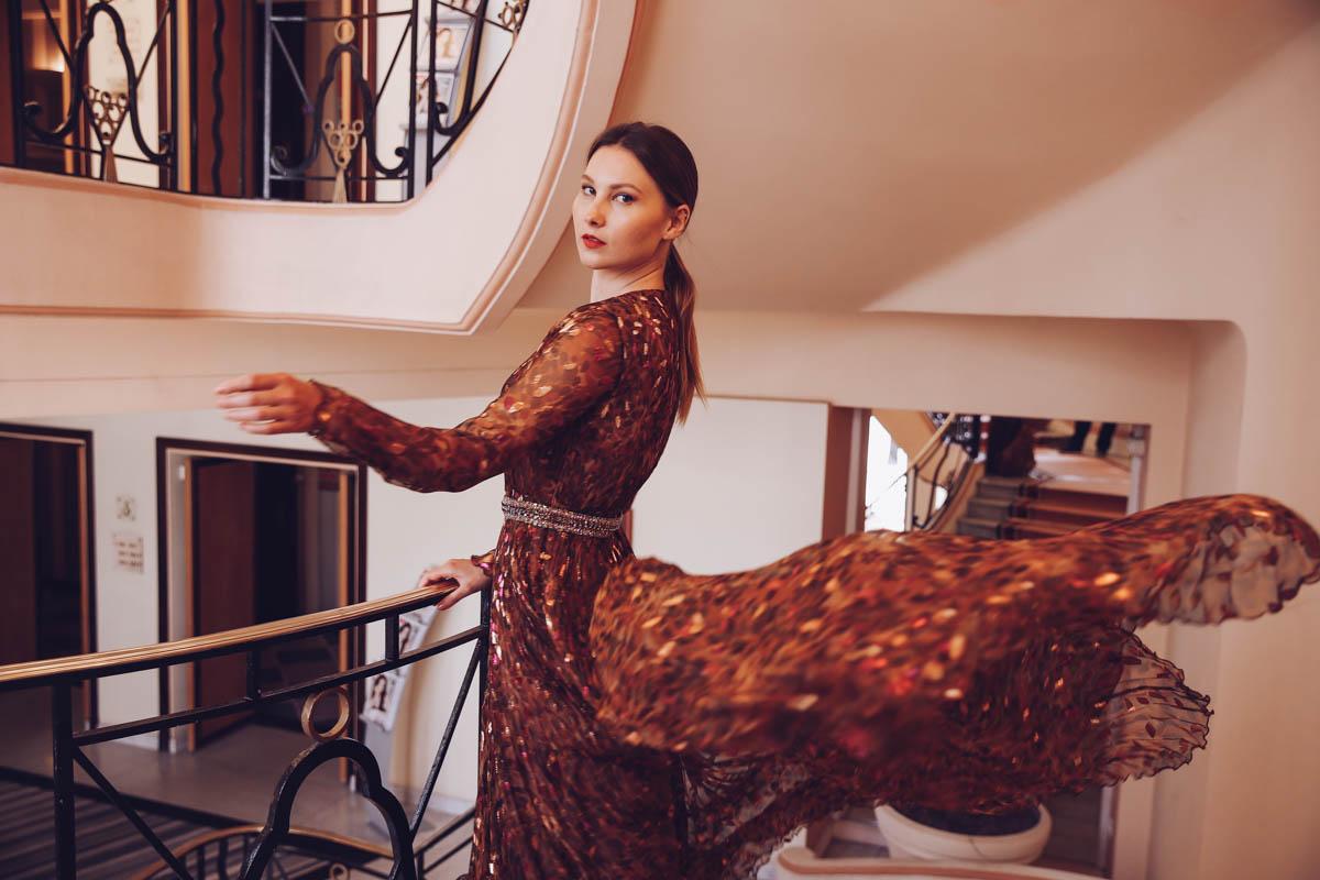 blumarine dress cannes film festival martinez